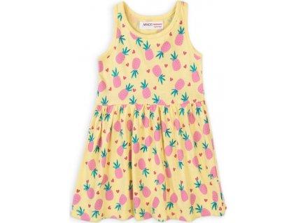 Šaty dívčí bavlněné, Minoti, 6TDRESS 11, žlutá