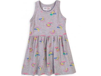 Šaty dívčí bavlněné, Minoti, 6TDRESS 12, šedá