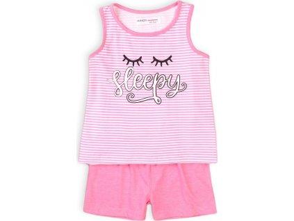 Pyžamo dívčí krátké, Minoti, KG PYJ 19, růžová