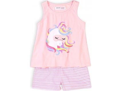 Pyžamo dívčí krátké, Minoti, KG PYJ 20, růžová