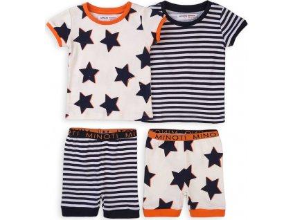 Pyžamo chlapecké krátké, 2pack, Minoti, TB PYJ 10, modrá