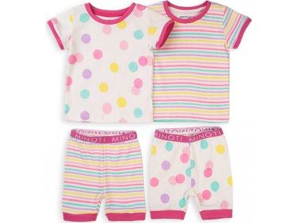 Pyžamo dívčí krátké, 2pack, Minoti, TG PYJ 10, růžová