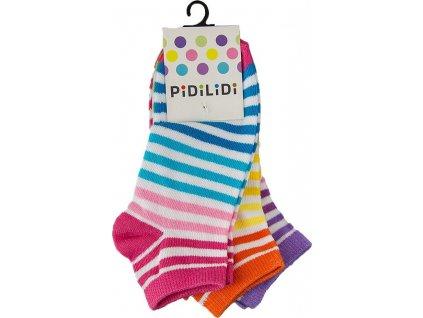 ponožky kotníkové dívčí - 3pack, Pidilidi, PD0130, Holka