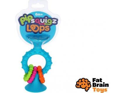 Fat Brain chrastítko pipSquiz Loops modré, Fat Brain, W010228