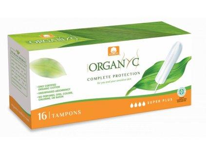 Organyc Tampony Super Plus (16 ks) - 100% z biobavlny, 4 kapičky