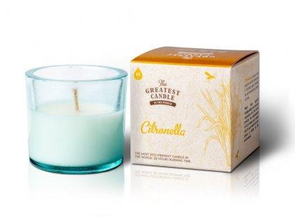 The Greatest Candle Vonná svíčka ve skle (75 g) - citronela