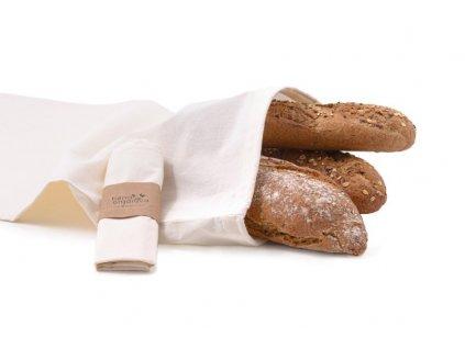 Casa Organica Plátěný sáček - velký (balení po 3 ks) - z biobavlny, s utahovací šňůrkou
