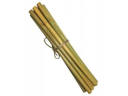 Mobake Bambusové brčko nebalené - s nápisem (10 ks) - z udržitelně pěstovaného bambusu