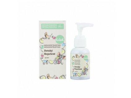 Kvitok Dětský repelentní olej (50 ml) - ideální pro děti od 2 let