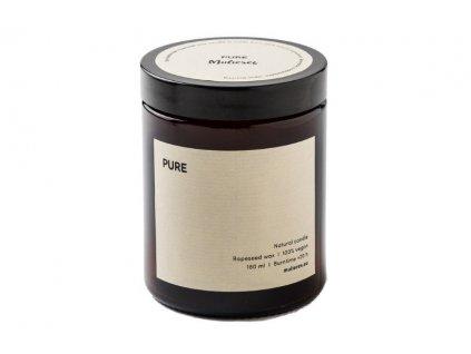 Mulieres Svíčka ve skle - bez vůně (180 ml) - až 35 hodin hoření