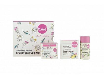 Kvitok Dárkový kosmetický balíček Bezstarostné ráno - luxusní dárek pro ženu