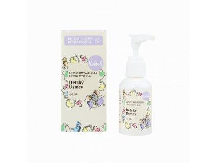 Kvitok Dětský mycí olej Dětský úsměv (50 ml) - nová receptura