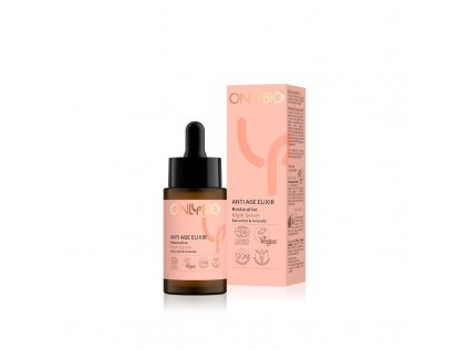 OnlyBio Obnovující noční pleťové sérum Anti Age Elixir (30 ml) - s avokádem a rostlinným retinolem