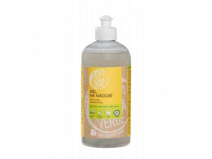 Tierra Verde Gel na nádobí s BIO citronovou silicí (500 ml) - o 70 % účinnější receptura