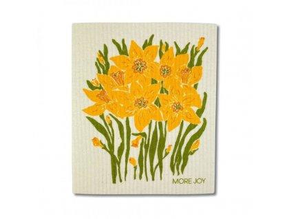More Joy Pratelná univerzální utěrka - Narcisy - 100% kompostovatelná
