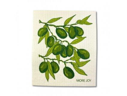 More Joy Pratelná univerzální utěrka - Olivy - 100% kompostovatelná