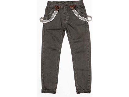 Kalhoty chlapecké se šlemi, Minoti, TRADE 5, šedá