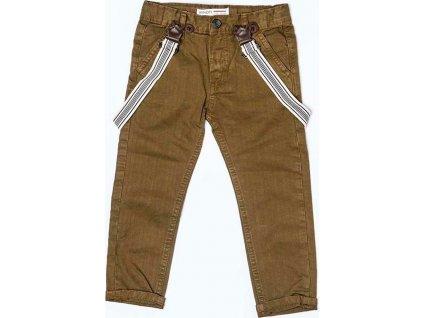 Kalhoty chlapecké se šlemi, Minoti, TRADE 5, hnědá
