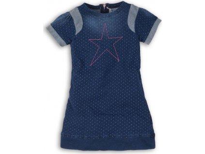 Šaty dívčí džínové, Minoti, GLITTER 8, modrá