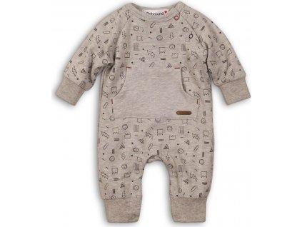 Overal kojenecký bavlněný, Minoti, SKETCHY 7, šedá