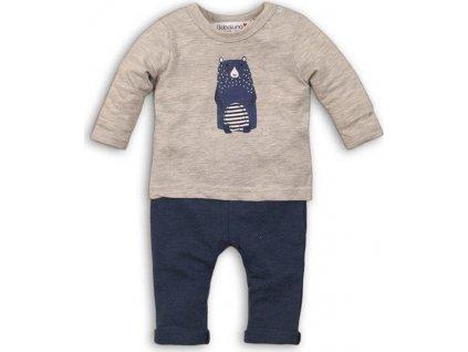 Kojenecký set bavlněný, tričko a kalhoty, Minoti, IGLOO 1, modrá