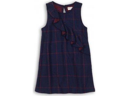 Kostkované šaty s broušenými zády, Minoti, PREP 8, modrá