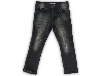 Kalhoty džínové chlapecké, Minoti, WORD 8, černá