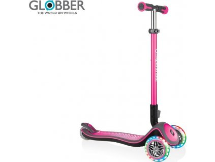 Koloběžka Elite Deluxe Lights Deep Pink, Globber, W012673
