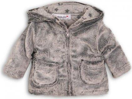 Kabátek kojenecký chlupatý s bavlněnou podšívkou, Minoti, GREY 5, šedá