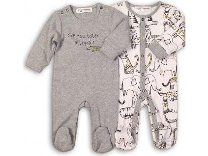 Overal kojenecký bavlněný, Minoti, Fun 7, šedá
