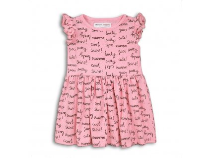 Šaty dívčí bavlněné, Minoti, 2TDRESS07, růžová