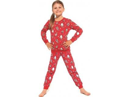 Dívčí pyžamo Cornette dlouhý rukáv 032