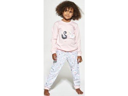 Dívčí pyžamo Cornette dlouhý rukáv 390