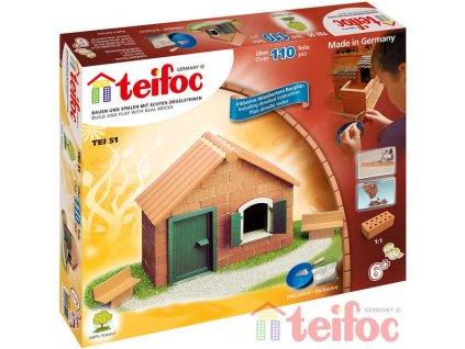 TEIFOC Domek Daniel 51 *Stavebnice cihly s maltou*