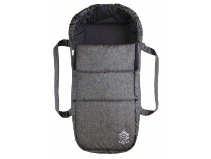 Taška pro kojence OXFORD -tmavě šedá - černá uvnitř