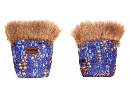 Rukavice EMMIK květinky - modré
