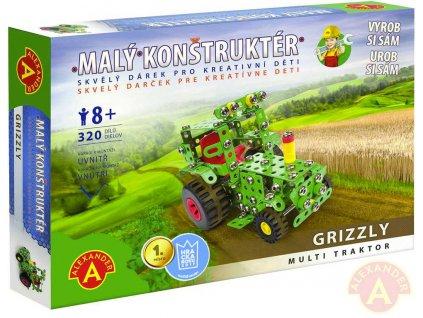 ALEXANDER Malý konstruktér Grizzly Traktor konstrukční STAVEBNICE 320 dílků kov