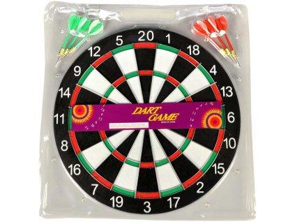 Hra šipky set terč oboustranný 36cm + 6 šipek *SPOLEČENSKÉ HRY*