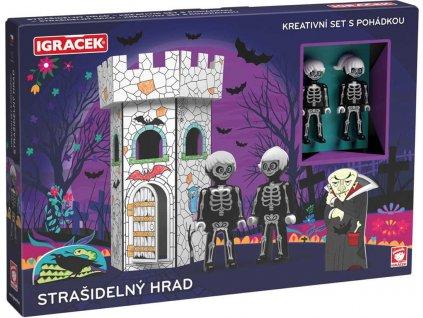 EFKO IGRÁČEK Strašidelná věž kreativní set se 2 figurkami a pohádkou