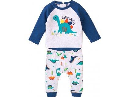 Kojenecký set - tričko a kalhoty, Minoti, Jurassic 4, modrá