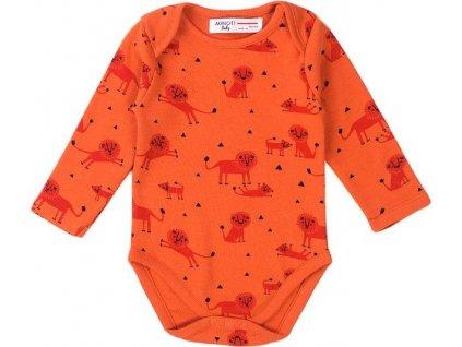 Body kojenecké BIO bavlna, Minoti, Simba 3, oranžová
