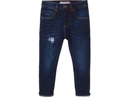 Kalhoty chlapecké džínové s elastanem, Minoti, Scandi 4, modrá