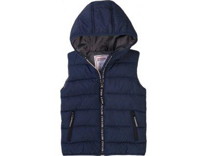 Vesta chlapecká Puffa s kapucí, Minoti, 7BGILET 7, modrá