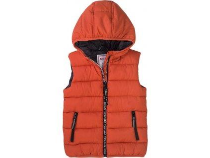 Vesta chlapecká Puffa s kapucí, Minoti, 7BGILET 11, oranžová