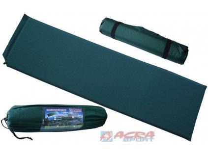 ACRA Karimatka samonafukovací zelenomodrá 186 x 53 x 2,5 cm