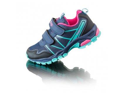 Divčí outdoorové softshellové boty AKA, Bugga, B00168-04, modrá
