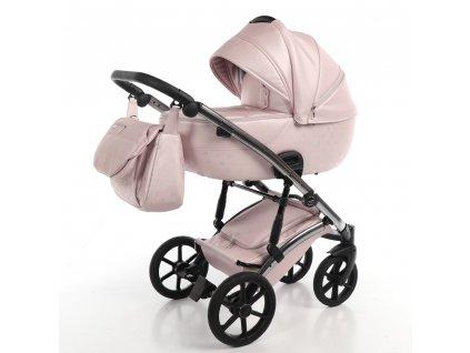 Kombinovaný kočárek Laret Imperial 05 Pink 2021  +rukávník zdarma