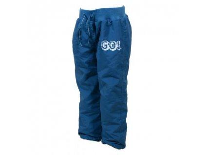 Dětské kalhoty sportovní s fleezovou podšívkou PIDILIDI PD886-04 GO - modrá 2019