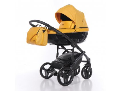 Kombinovaný kočárek Junama Saphire 05 Yellow 2020  + rukávník zdarma