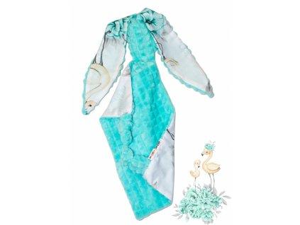 104363 175913 baby nellys mazlik pritulnicek kralicek minky bavlna 43 x 40 cm plamenak matovy